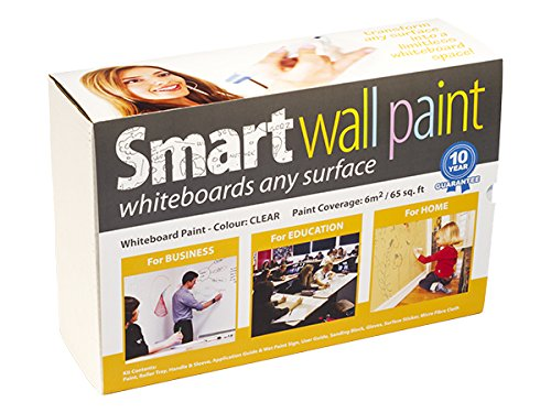 Dry-Erase Paint + Accessories - 6m² / 65ft² Clear by Smarter Surfaces