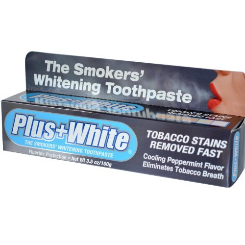 Cca Industries Plus White Smokers Peppermint Toothpaste  3 5 Ounce By Cca Industries