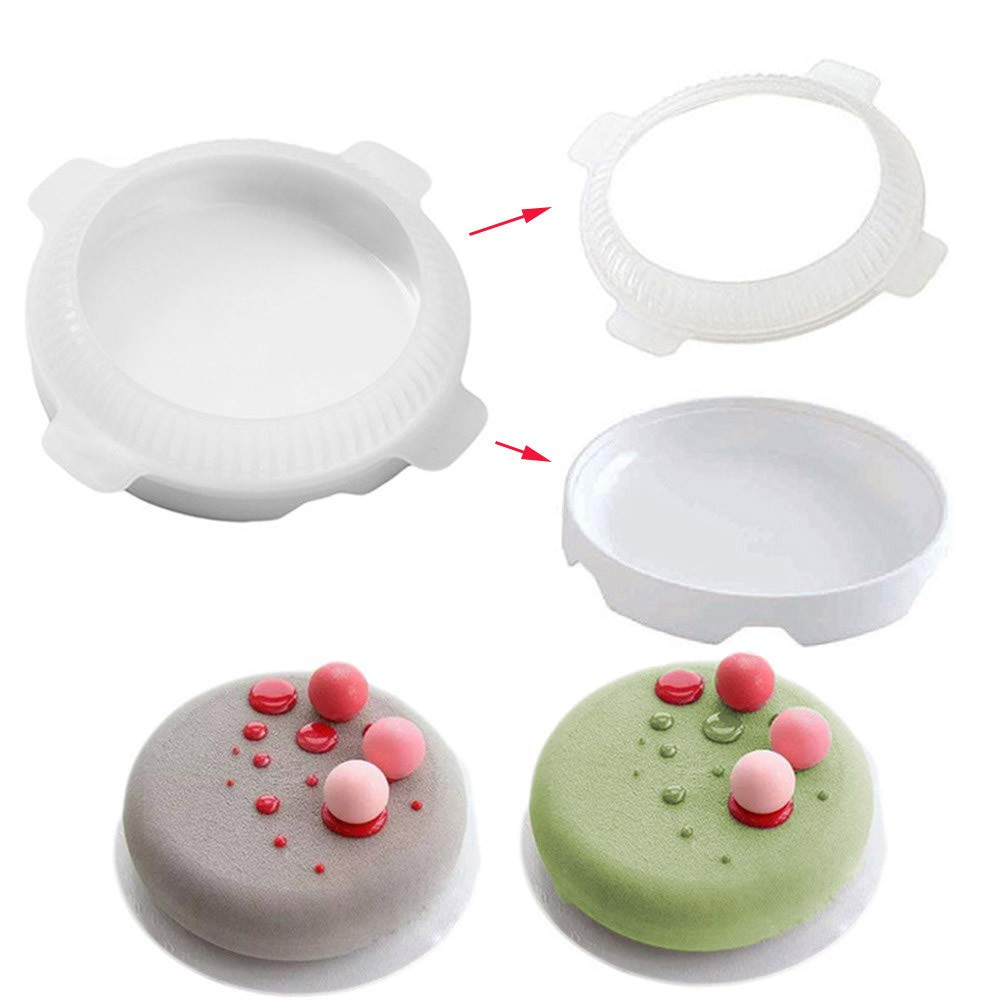 Gaddrt Flat Top Round Shaped Cake Mold Small Ball Silicone Cake Molds for Mousse Dessert Bakeware