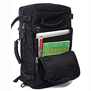KAKA Classic Laptop Backpack for 17 Inch Laptops Black