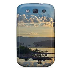High Quality Shock Absorbing Case For Galaxy S3-peaceful Reflection