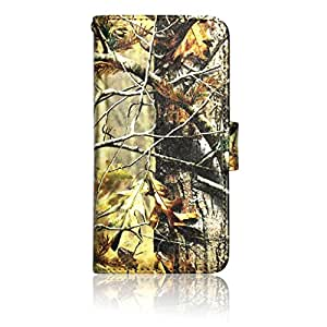 Samsung S5 G900 Real Autumn Tree Camo Wallet Purse clutch Handbag Case Cover ID,Credit Card,Cash Slots