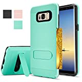 Note 8 Case,Galaxy Note 8 Case, Galaxy Note 8 Wallet Case,AnoKe[Card Slots Holder]Kickstand Dual Layer Heavy Duty TPU Shockproof Armor Cases for Samsung Galaxy Note 8 / Note 8 KC1 Mint
