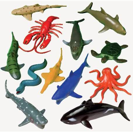 US Toy Assorted Ocean Sea Animals Action Figure (Lot of 12)