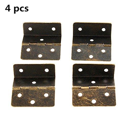 Chenxi Shop 4Pcs1.5inch plié page 3rectangulaire Charnière fer antique Charnière Boîte en bois Fixation Buckle Connect