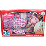Kid Connection Babydoll and Stroller Playset - African American