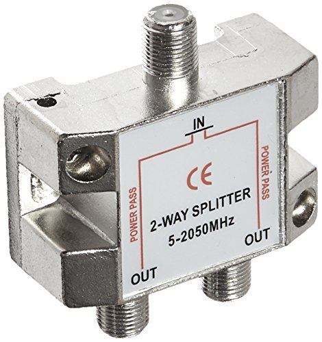 Morris 45034 2 Way Splitters with Ground Block Satellite, 5-2050 MHz ()