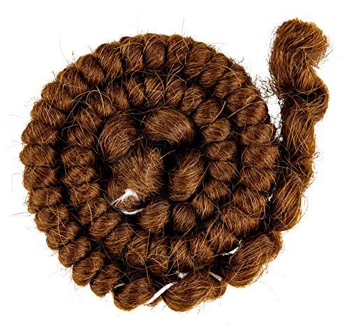 Mehron Makeup Crepe Hair 12-inch Braid (Light Brown) ()