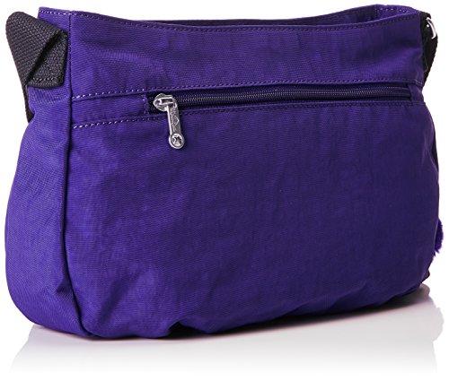 Kipling Damen Syro Umhängetasche, Schwarz, 31x22x12.5 cm Violett (Summer Purple)