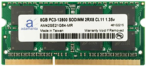 Adamanta 8GB (1x8GB) Laptop Memory Upgrade Compatible for HP Elitebook, Pavilion, Probook, ZBook DDR3L 1600Mhz PC3L-12800 SODIMM 2Rx8 CL11 1.35v Notebook RAM