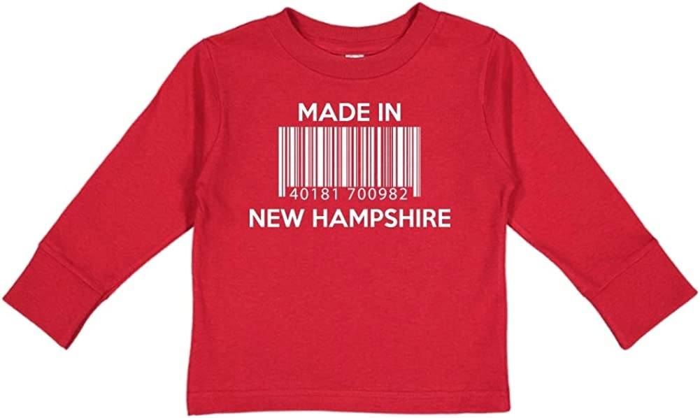 Barcode Toddler//Kids Long Sleeve T-Shirt Made in New Hampshire