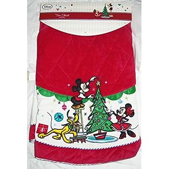 disney store christmas tree skirt minnie mickey mouse pluto red - Disney Christmas Tree Skirt