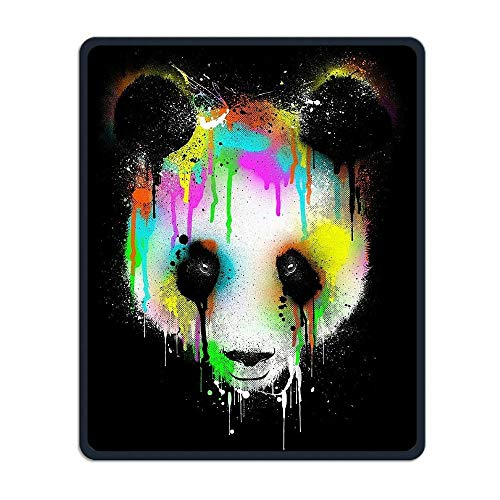 Colorful Panda Head Portable Gaming Mouse Pad Comfortable Non-Slip Base Durable Stitched Edges 7.08 X 8.66 Inch, 3mm -