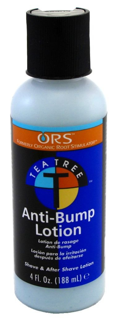 Organic Root Stimulator Tea Tree Anti-Bump Lotion 120 ml (3-Pack) with Free Nail File