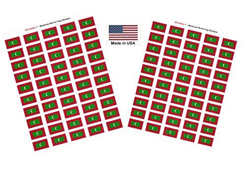 Maldives Sheet - Made in USA! 100 Country Flag 1.5