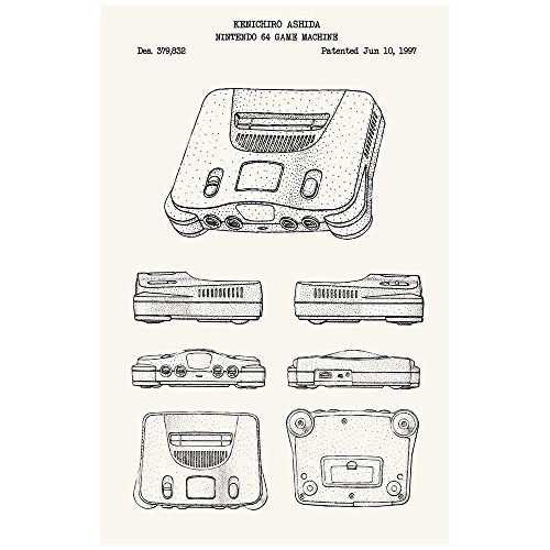 (Inked and Screened SP_VIDG_379,832_TW_17_K Nintendo 64 Machine N64 Game Console Silk Screen Print, 11