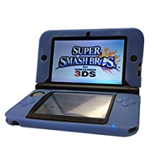 HDE Nintendo 3DS XL/LL Soft Silicone Protective Gel Grip Skin Case Cover - Blue