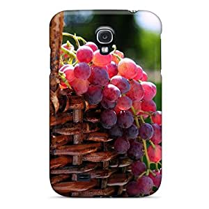 Hot Design Premium Tpu Case Cover Galaxy S4 Protection Case(grape Basket)