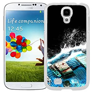 Unique Designed Cover Case For Samsung Galaxy S4 I9500 i337 M919 i545 r970 l720 With Al Guitar Wave Illust Art Blue (2) Phone Case
