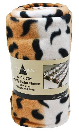 "Leopard Print Comfy Polar Fleece Throw Blanket 60"" X 70"" - Bigger, Better, Softer - One Week Clearance Sale On Now!"
