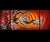 Abstract Art Chinese Cherry Blossom Feng Shui Oil Paintings