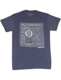 Ghostbusters Proton Pack Schematic Heather Navy Men's T-Shirt