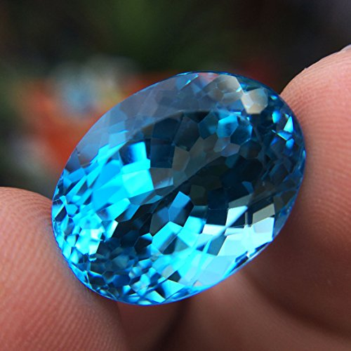 29.24ct Natural Oval Irradiation Swiss Blue Topaz Brazil #B by Lovemom (Image #4)