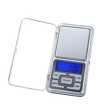 STRIR Báscula de Bolsillo, Balanza Digital, Balanza De Precision, Mini Bascula Balanza Digital 0.01g a 200g LCD Eléctrónico Precisión: Amazon.es: Hogar
