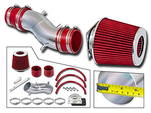 (Rtunes Racing Short Ram Air Intake Kit + Filter Combo RED For 91-99 Nissan Sentra / 93-97 Nissan Altima )