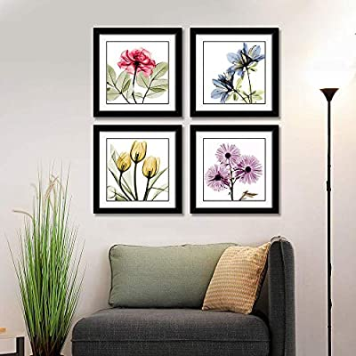 Tulip Flowers Floral MULTI CANVAS WALL ART Picture Print VA