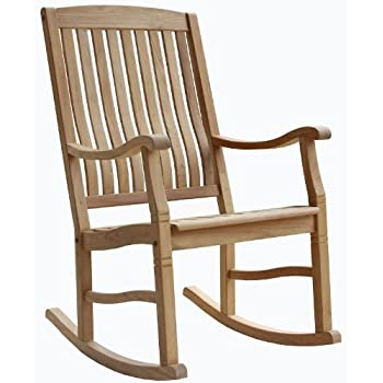 solid wood indoor rocking chair wooden chairs for nursery australia this item teak outdoor porch garden rocker seat cushions
