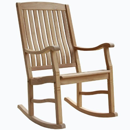 Indonesian Teak Outdoor Porch Garden Rocking Rocker Chair (Teak Rocker Porch)