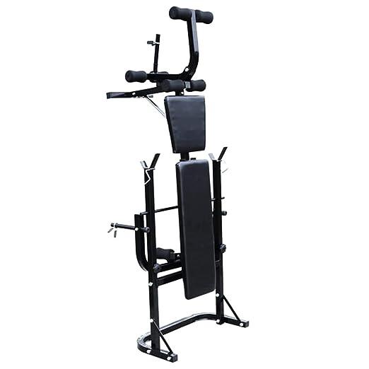 ... de Musculación Multifunción Ajustable Plegable Inclinable para Entrenamiento Completo con Soporte Pesas, Pesas y Mancuernas 60,5 kg: Amazon.es: Hogar