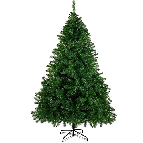 CHEERSON Christmas Tree, 7.5 ft Easy-Assembly Artificial Evergreen Christmas Tree with Solid Metal Legs (Christmas Tree)