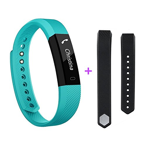 Fitness Tracker, Activity Tracker Pedometer Waterproof Sports Smart Watch with Sleep Monitor Calorie/Step Counter for iPhone 4 5 5s 6 6s 7 iPhone X Samsung LG etc for Women Men Kids (Teal1)