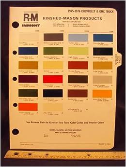 1975 & 1976 CHEVROLET & GMC Truck Paint Colors Chip Page ...