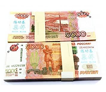 $5,000X100 Pcs Total $500,000 Russian Ruble Props Money Real Looking New  Style Copy Full Print