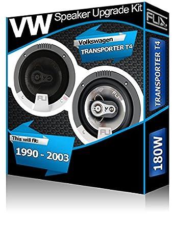 VW Transporter T4 Front Dash speakers Fli 4 10cm car speaker kit 150W