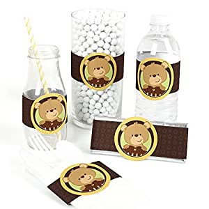 baby teddy bear baby shower diy party wrapper favors