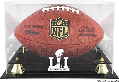 Sports Memorabilia Super Bowl 51 Golden Classic Football Logo Display Case - Football Logo Display Cases