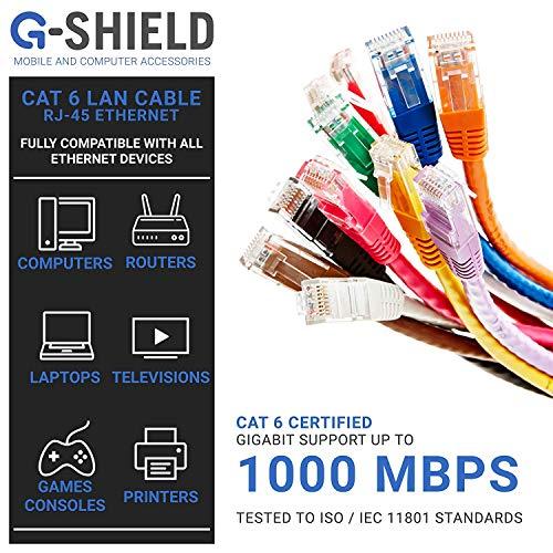 Black RJ45 20m Cat6 UTP Ethernet Patch Lead PC NETWORK PS4 XBOX ONE WIIU