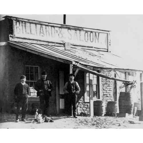 Quality digital print of a vintage photograph - Billiard Parlor & Saloon, Kelly, NM 1883. Black & White 8x10 inches - Matte Finish by DS Decor Photos