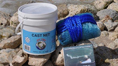 - Joy Fish Professional Bait Cast Net, 3/8
