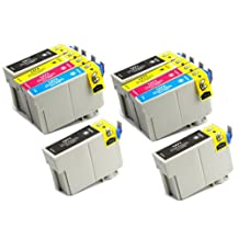 10 Pack - Toners & More ® Remanufactured Inkjet Cartridge Set for Epson T127 #127, T127120 Black, T127220 Cyan, T127320 Magenta, T127420 Yellow, Compatible with Epson Stylus NX625, NX530, WorkForce 633, 630, 635, 840, 645, 845, WF-7010, WF-7510, WF-7520, 60, 545, WF-3540, WF-3520, WF-3530