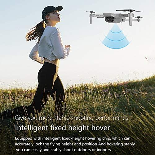KLOP256 Drone Pliable avec Caméra, FPV WiFi Double Camera Drone, Positionnement Visuel Extérieur Drone Télécommande, Pas de zéro, Voir image, 4k - with three battery