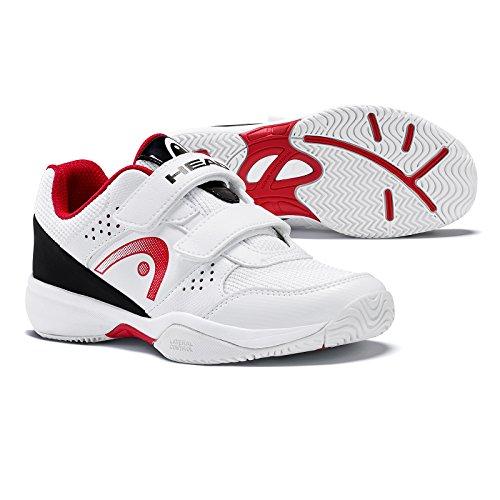 Head Sprint Velcro Junior 2.0, Zapatillas de Tenis Unisex Niños Blanco (White/black)