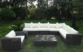 Amazon.de: Baidani Garten Lounge Garnitur Rundrattan, Celebration ...