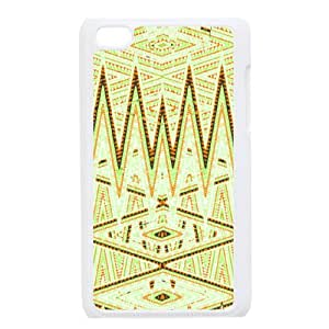 WJLCASE Design - 6WJL5112 Custom Geometrical Pattern Durable Hard Back Cover Case for Ipod Touch 4