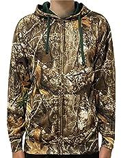 Men's Realtree Edge Full Camo Polyester Fleece Hoodie