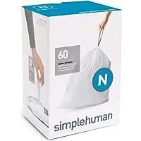 simplehuman Set 60 BOLSAS BASURA (N) 45-50, Plastik, Weiß, 0.02 x 58 x 80 cm